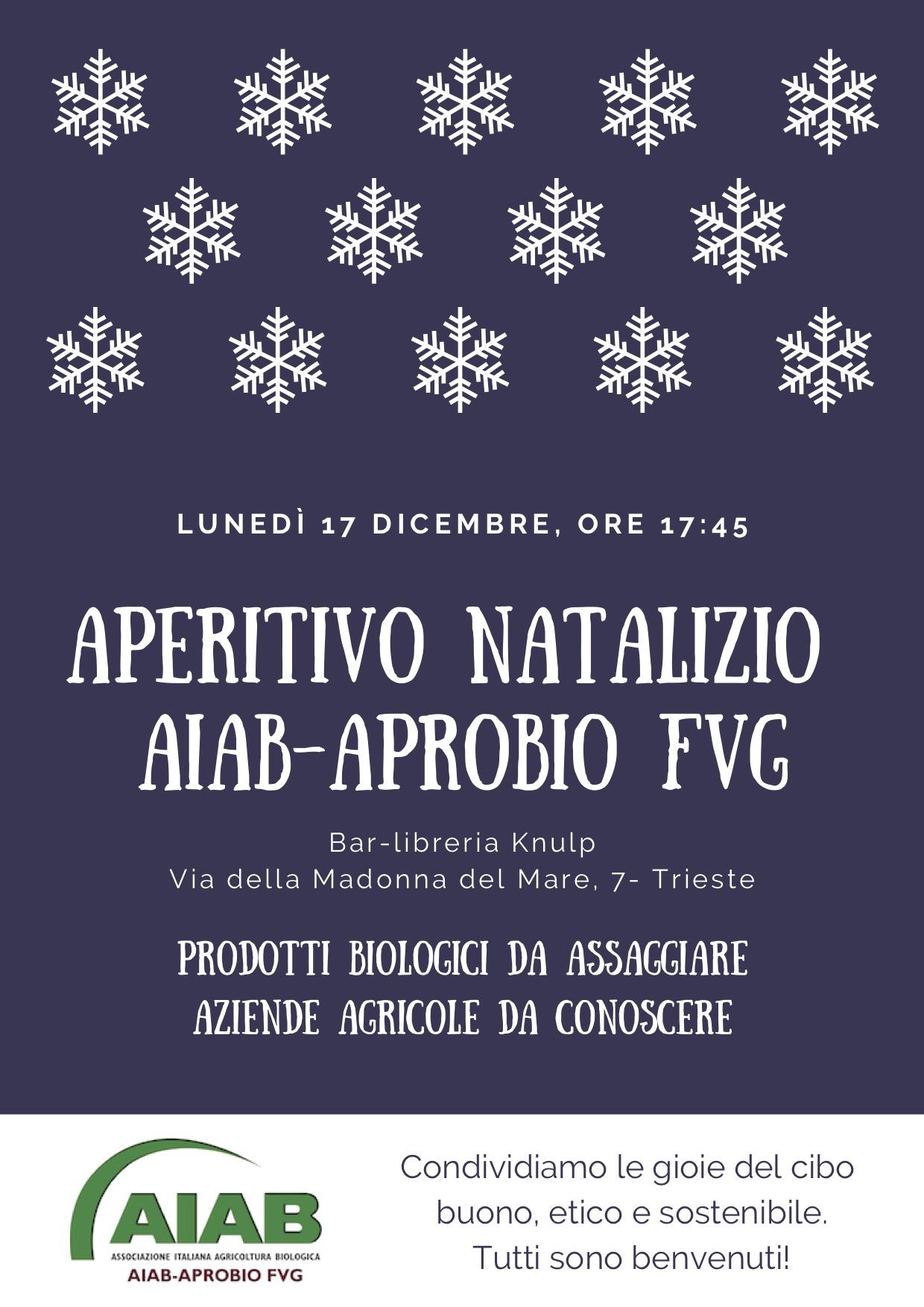 Aperitivo natalizio a Trieste, 17 dicembre