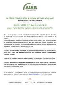 Incontro tecnico e di scambio di esperienze il 4 marzo a Vistorta: gestire la vigna bio con 4 kg di rame