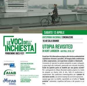 12 e 13 aprile AIAB a Le voci dell'inchiesta a Pordenone