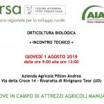 Incontro tecnico: PROVE IN CAMPO DI ATTREZZI AGRICOLI MANUALI