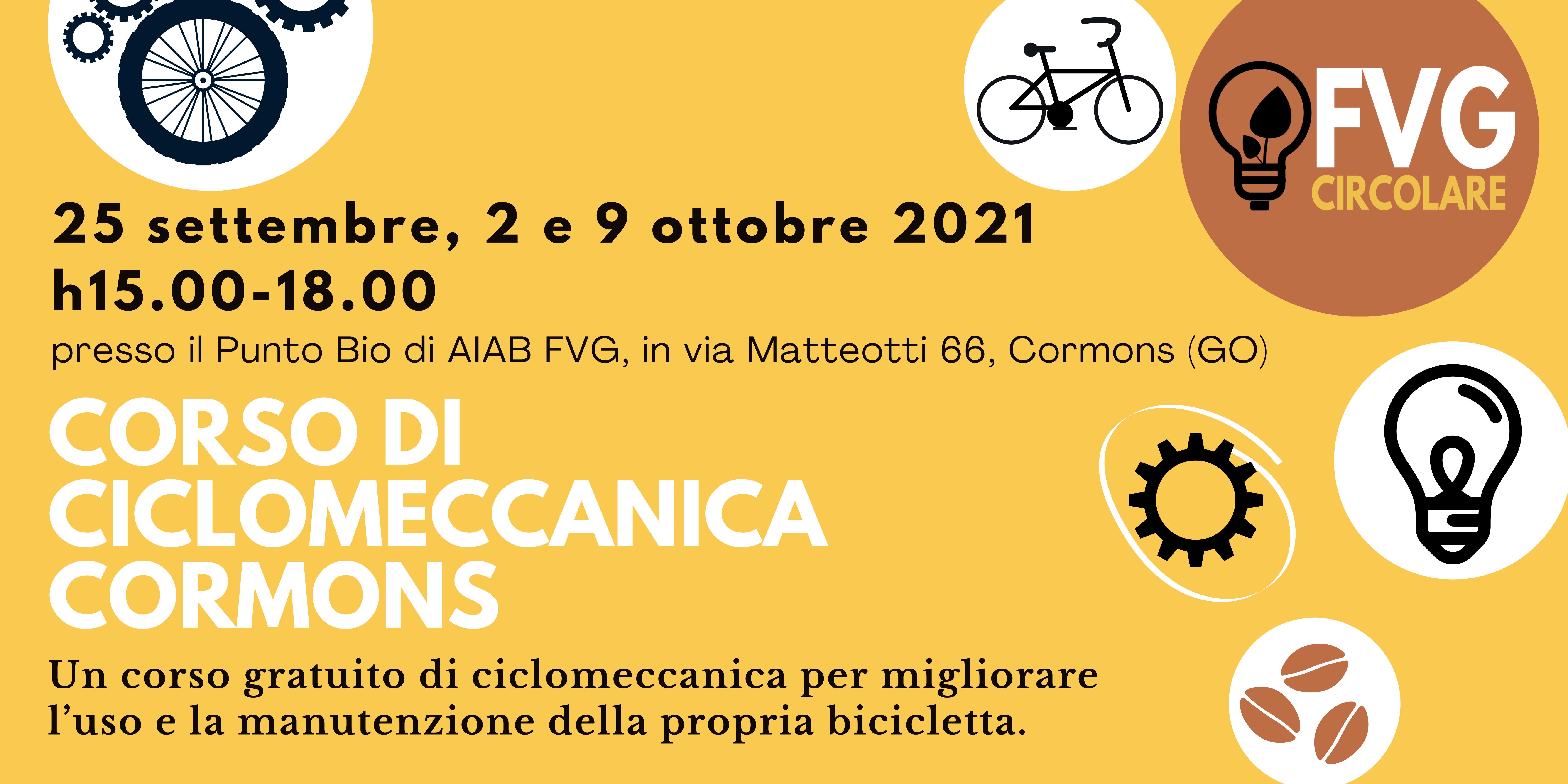 Corso ciclomeccanica a Cormons – FVG circolare