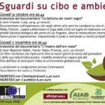 Food for future: sguardi su cibo e ambiente. Pordenone 31/10 e 07/11